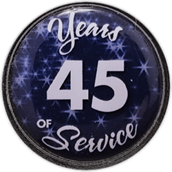 45 Years Silver and Blue Years of Service Pin