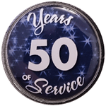 50 Years Silver and Blue Years of Service Pin