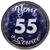 55 Years Silver and Blue Years of Service Pin
