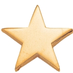 GOLD SMOOTH STAR LAPEL PIN