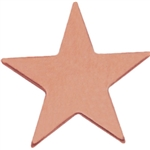 BRONZE SMOOTH STAR LAPEL PIN