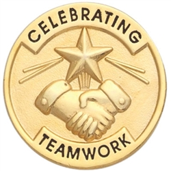 CELEBRATING TEAMWORK PIN