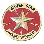SILVER STAR AWARD WINNER PIN