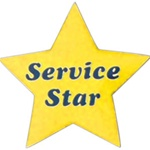YELLOW SERVICE STAR PIN