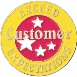 EXCEED CUSTOMER EXPECTATIONS PIN