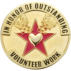OUTSTANDING VOLUNTEER WORK PIN