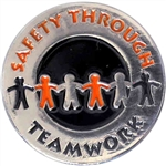 SAFETY THROUGH TEAMWORK PIN