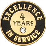 4 YEARS OF SERVICE PIN W/ STONE
