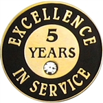 5 YEARS OF SERVICE PIN W/ STONE