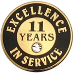11 YEARS OF SERVICE PIN W/ STONE