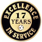 17 YEARS OF SERVICE PIN W/ STONE