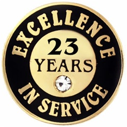 23 YEARS OF SERVICE PIN W/ STONE