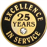 25 YEARS OF SERVICE PIN W/ STONE
