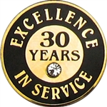 30 YEARS OF SERVICE PIN W/ STONE