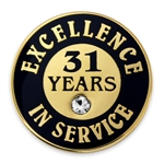 31 YEARS OF SERVICE PIN W/ STONE