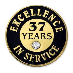 37 YEARS OF SERVICE PIN W/ STONE
