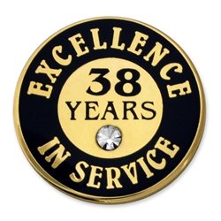 38 YEARS OF SERVICE PIN W/ STONE