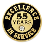 55 YEARS OF SERVICE PIN W/ STONE