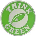 THINK GREEN LEAF PIN