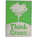THINK GREEN TREE PIN