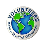 VOLUNTEERS WORLD PIN