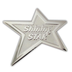 STAR PERSHINING STAR LAPEL PIN