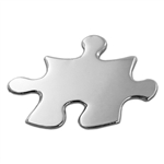 SILVER PUZZLE PIECE TEAMWORK PIN