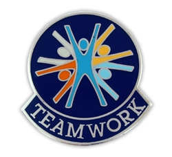 BLUE TEAMWORK PIN