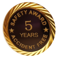 Safety Award/Accident Free Years pin