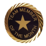 TEAM MEMBER OF THE MONTH LAPEL PIN