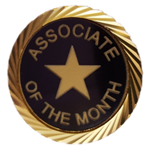 ASSOCIATE OF THE MONTH LAPEL PIN