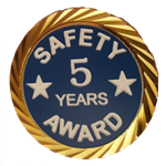 Safety Award Years pin