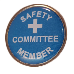 Magnetic Safety Committee Member pin
