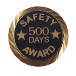 Safety Award Days pin