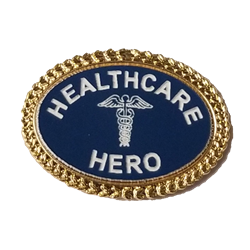 Oval Healthcare Hero Lapel Pin