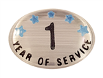 1 YEAR SELF ADHESIVE YEARS OF SERVICE