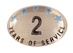 2 YEARS SELF ADHESIVE YEARS OF SERVICE