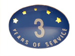 3 YEARS SELF ADHESIVE YEARS OF SERVICE
