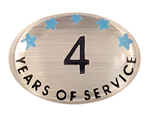 4 YEARS SELF ADHESIVE YEARS OF SERVICE