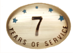 7 YEARS SELF ADHESIVE YEARS OF SERVICE