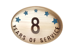 8 YEARS SELF ADHESIVE YEARS OF SERVICE