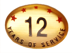 12 YEARS SELF ADHESIVE YEARS OF SERVICE