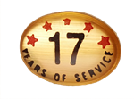 17 YEARS SELF ADHESIVE YEARS OF SERVICE