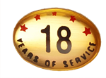 18 YEARS SELF ADHESIVE YEARS OF SERVICE