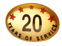 20 YEARS SELF ADHESIVE YEARS OF SERVICE