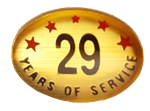 29 YEARS SELF ADHESIVE YEARS OF SERVICE