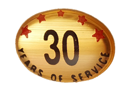 30 YEARS SELF ADHESIVE YEARS OF SERVICE