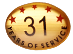 31 YEARS SELF ADHESIVE YEARS OF SERVICE