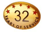 32 YEARS SELF ADHESIVE YEARS OF SERVICE