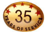 35 YEARS SELF ADHESIVE YEARS OF SERVICE